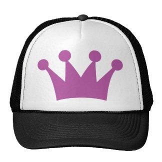 purple king crown mesh hats