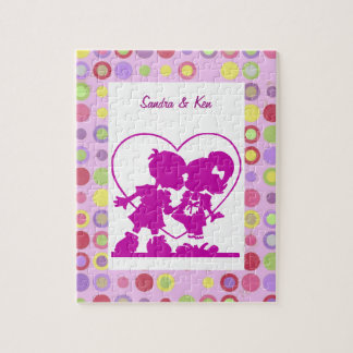 Purple Kissing Kids Puzzle