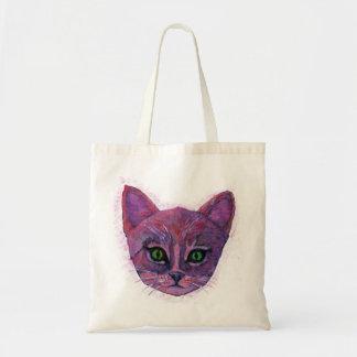 Purple Kitten Tote Bag