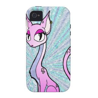 Purple Kitty iPhone 4 Cases
