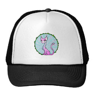 Purple Kitty Mesh Hat