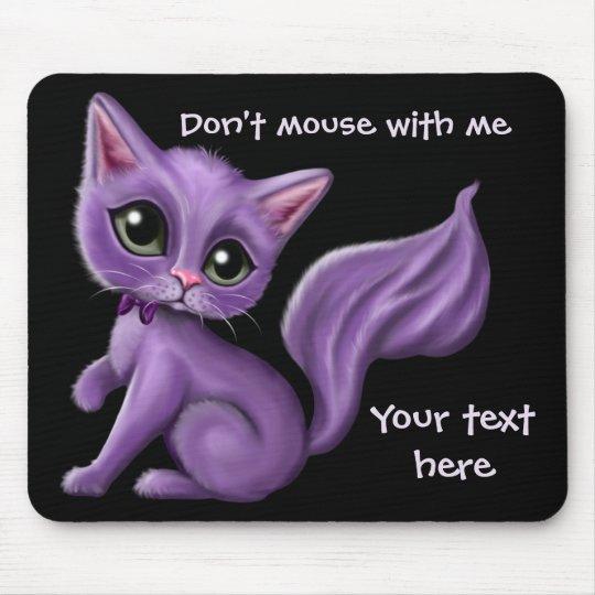 Purple Kitty Mouse Mat