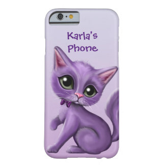Purple Kitty Personalized iPhone 6 Case