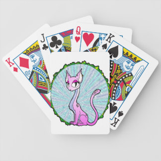 Purple Kitty Playing Cards