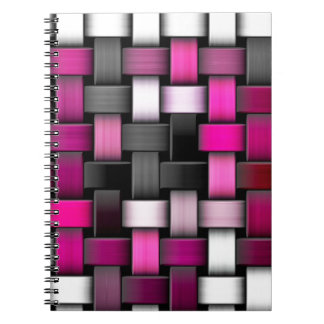 Purple knitted texture spiral note book