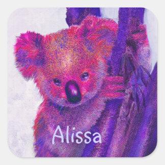 purple koala sticker