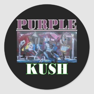 PURPLE KUSH ROUND STICKER