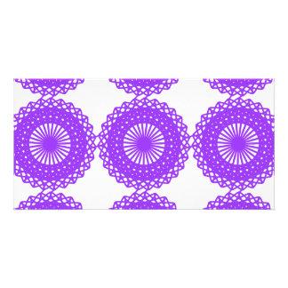 Purple Lace Design. Personalized Photo Card