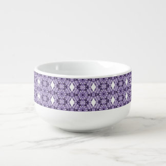 Purple Lace Fractal Pattern Soup Mug