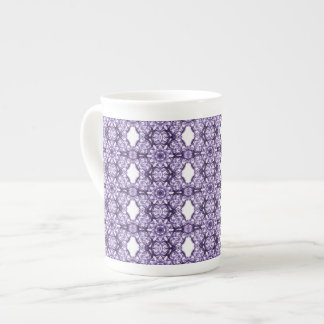 Purple Lace Fractal Pattern Tea Cup