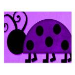 Purple Lady Bug Post Card