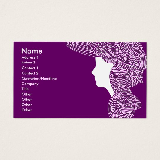 Purple Lady Business Card