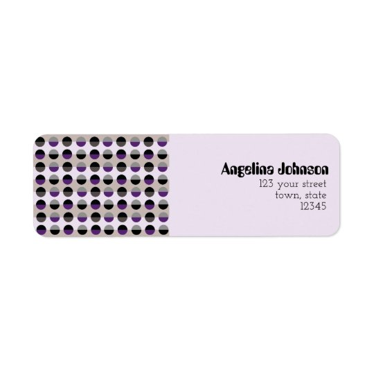 Purple Lady Chic Dots Pattern Adorable Stylish Return Address Label
