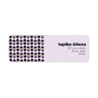Purple Lady Polka Dots Chic Modern Retro Stylish