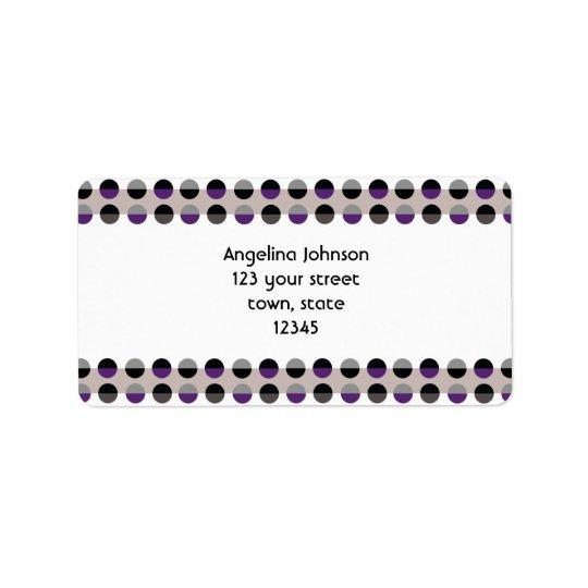 Purple Lady Polka Dots Chic Modern Retro Stylish Label