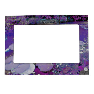 Purple Lake Dreaming Magnetic Picture Frame