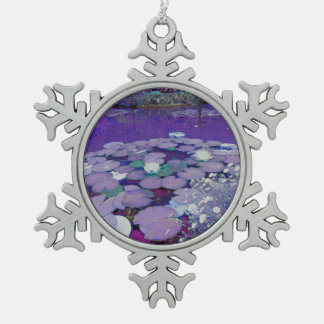 Purple Lake Dreaming Pewter Snowflake Decoration