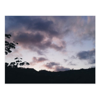 Purple Landscape. Postcard