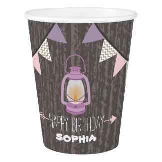 Purple Lantern Camping Kids Birthday Party Cups