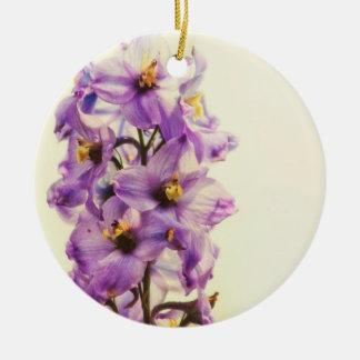 Purple Larkspur Delphinium Christmas Ornament