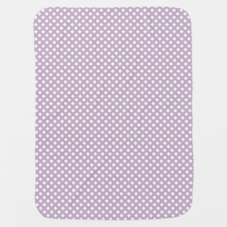 Purple Lattice Baby Blanket