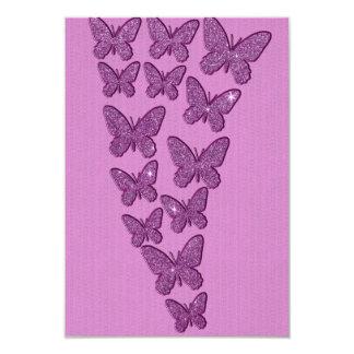 Purple Lavendar Glitter Butterflies Card