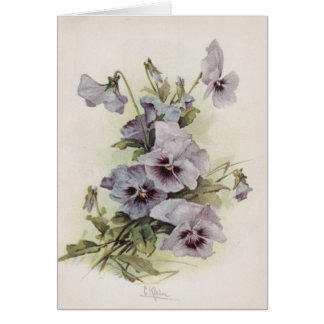 Purple & Lavendar Pansies Card