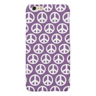 Purple lavendar peace symbol iPhone 6 plus case