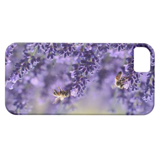 Purple Lavender and Bees iPhone Case