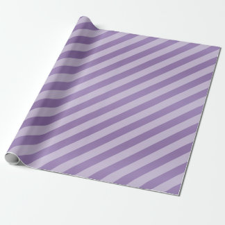 Purple Lavender and Diagonal Stripes Wrapping Paper