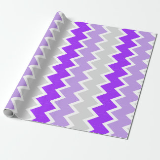 Purple, lavender, and grey chevron Wrapping paper