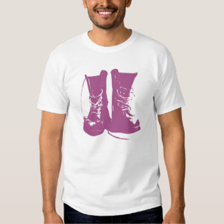 Purple Lavender Boots with Untied Laces Shirts
