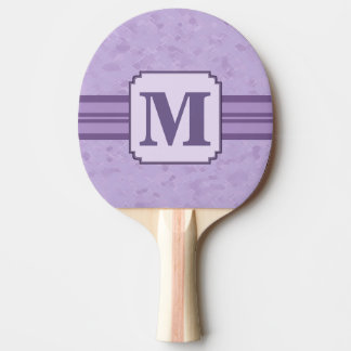 Purple Lavender Custom Striped Monogram Ping Pong Paddle