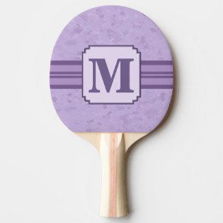 Purple Lavender Custom Striped Monogram Ping Pong Paddle