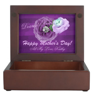 Purple & Lavender Diamond Roses Keepsake Box