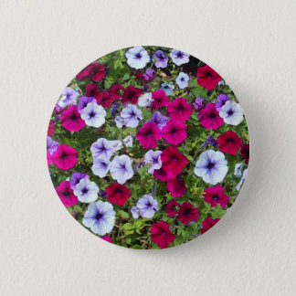 Purple & Lavender Flowers: 6 Cm Round Badge