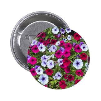 Purple & Lavender Flowers: 6 Cm Round Badge