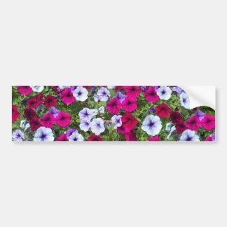 Purple & Lavender Flowers: Bumper Sticker