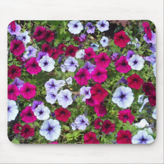 Purple & Lavender Flowers: Mouse Mat