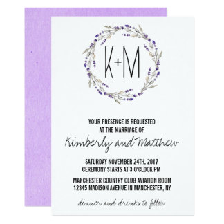 Purple Lavender Watercolor Invitation