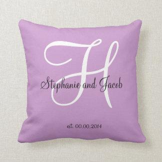 Purple Lavender Wedding keepsake pillow