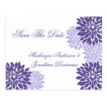 Purple Lavender White Floral Save The Date