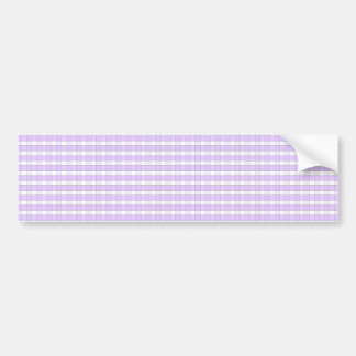 Purple Lavender White Gingham Check Pattern Backgr Bumper Stickers