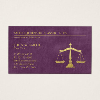 Purple Lawyer Scales of Justice Gold effect Canvas