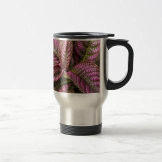 Purple Leaf Stainless Steel Travel Mug
