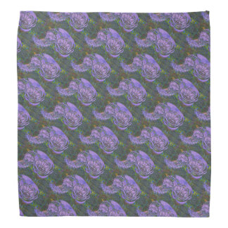 Purple Leafy Paisley Patterned Bandana