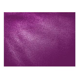 Purple Leather Look Postcard
