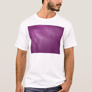 Purple Leather Look T-Shirt