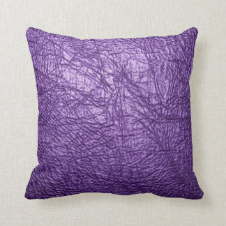 purple leather texture pillow