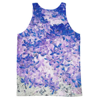 Purple leaves All-Over print tank top